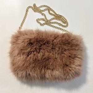 Faux Fur Evening Bag